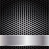 Metal Grid Background Template, Vector Illustration Stock Image