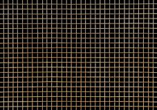 Metal grid. On a black background Royalty Free Stock Photography