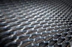 Metal grid, black gangway Royalty Free Stock Images