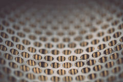 Metal grid of car air filter for background Stock Photography