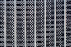 Metal grid chrome truck front radiator texture Royalty Free Stock Image