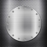 Metal grid and circle plate Royalty Free Stock Images