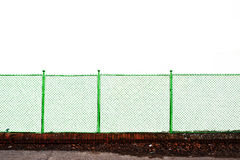 Metal grid fence Stock Images