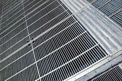 Metal Grid Floor Stock Images