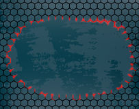 Metal grid with a hole in the middle. Vector metal grid with a hole in the middle Royalty Free Stock Photos