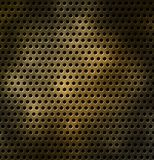 Metal grid with holes in the form of a star Royalty Free Stock Photography