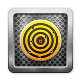 Metal and target icon Royalty Free Stock Photos