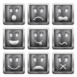 Metal grid icons Stock Photos