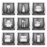 Metal grid icons Royalty Free Stock Photography