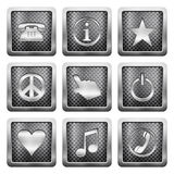 Metal grid icons Stock Images
