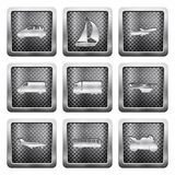 Metal grid icons Stock Photography