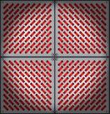Metal grid illustration Stock Photo