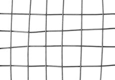 Metal grid isolated on white Stock Photos