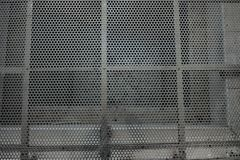 Metal grid looking down to underground royalty free stock photos