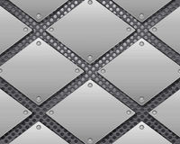 Metal grid and plates Royalty Free Stock Photography