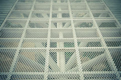 Metal grid with regular pattern Royalty Free Stock Image