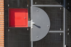 Metal grid safety door Stock Photography