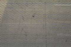 Metal grid seamless pattern. Metal brushed background with punched holes and silver color Royalty Free Stock Photography