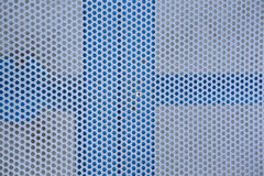 Metal grid seamless pattern. Metal brushed background with punched holes and silver color Stock Photography