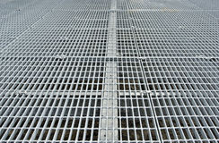 Metal grid walkway Stock Photo