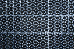 Metal grid walkway Stock Image