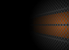 Metal grid and wall stock illustration