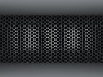 Metal grid wall Royalty Free Stock Image