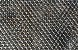 Metal grid for window protection. Stock Photo