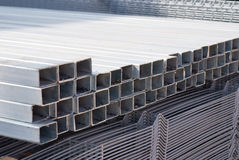 Metal grids. Photo, construction materials Royalty Free Stock Photography