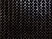 Metal grill. High resolution metal mesh grille, similar to that used as speaker cover. Uneven lighting version. Design component Stock Images