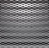 Metal grille. Over black background stock illustration