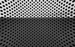 metal grille with a hole. Stock Photos