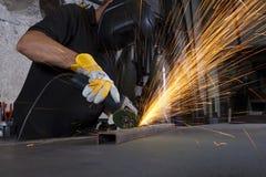 Metal grinding Royalty Free Stock Photos