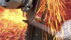 Metal grinding stock footage