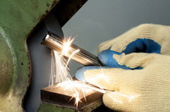 Metal grinding Stock Images
