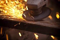 Metal grinding machine Royalty Free Stock Photo