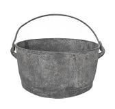 Metal gris viejo que cocina el pote aislado. imágenes de archivo libres de regalías