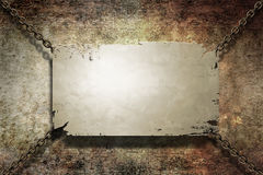 Metal grunge banner Royalty Free Stock Photography