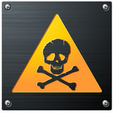 Metal Grunge Skull Sign Stock Image