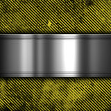 Metal on grunge striped background Stock Photo