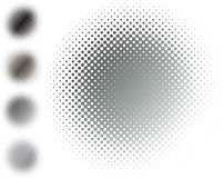 Metal halftone blur, grey Stock Photography