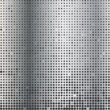Metal halftone gradient dots background. Vector illustration Stock Image