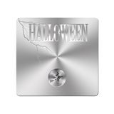 Metal Halloween button. royalty free illustration