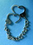 Metal handcuffs Royalty Free Stock Image