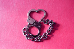 Metal handcuffs Stock Photos