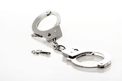 Metal Handcuffs Royalty Free Stock Images