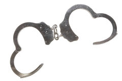 Metal Handcuffs Open Stock Photos