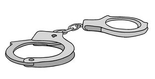 Metal handcuffs vector Stock Photo