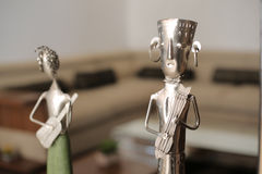 Metal Handicraft. Indian metal handicraft as musician group for Interior decor Stock Photos