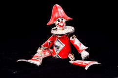 Metal Handmade Statue of a Carnival Puppet Royalty Free Stock Photo